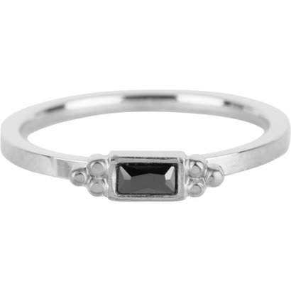 CHARMIN'S Charmins Shiny STYLISH rectangle silver steel R633 from the fashion jewelry brand Charmin's.