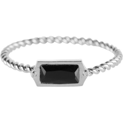 CHARMIN'S Charmins Shiny Turned silver steel Charms rectangle gold steel R588 from Charmin's fashion jewelery brand.