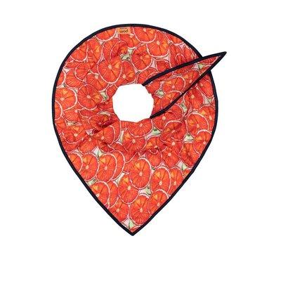 Pom Amsterdam triangular Shawl Oranges Red Piece of Mine