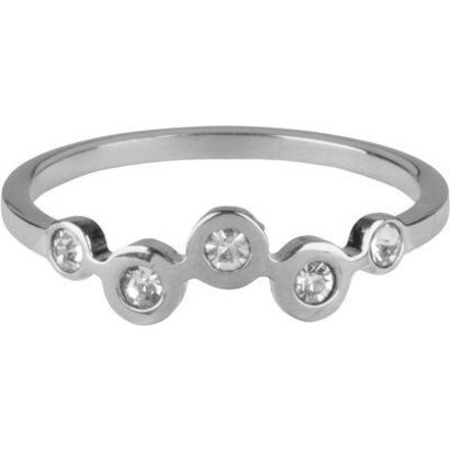 CHARMIN'S Charmins Bubbles Silver steel  R657  van het fashion sieradenmerk Charmin's.