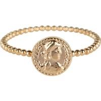 CHARMIN'S Charmins Ring römische Münze Stahl Gold