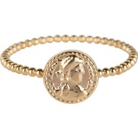 CHARMIN'S Charmins ring Roman Coin  Steel Gold