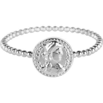 CHARMIN'S Charmins  Roman Coin  Silver steel  R624  van het fashion sieradenmerk Charmin's.