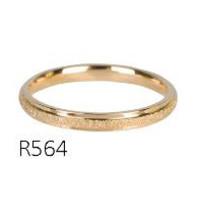 CHARMIN'S Charmins ring Sanded en Shiny Steel Gold