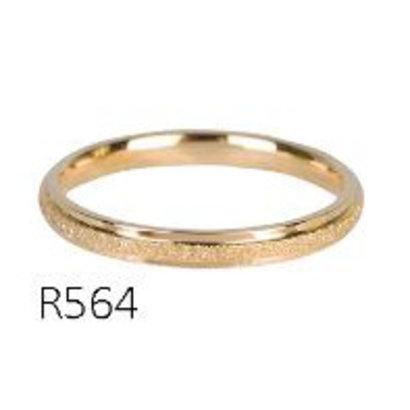 CHARMIN'S Charmins Sanded en Shiny Goldsteel  R564  van het fashion sieradenmerk Charmin's.