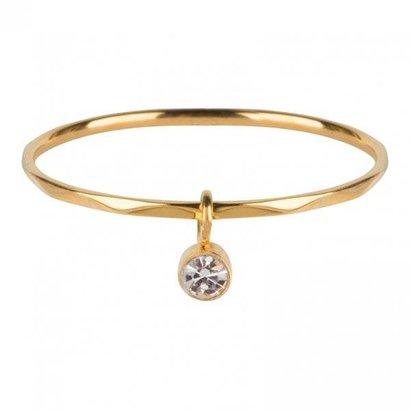 CHARMIN'S Charmins Dangling CZ Gold steel  R577  van het fashion sieradenmerk Charmin's.