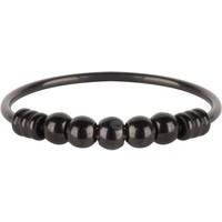 CHARMIN'S Charmins Ring Palm Shiny Steel Schwarz