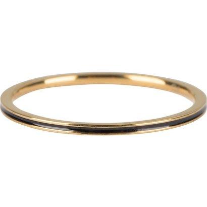 CHARMIN'S Charmins Petite Gold Steel Black Enamel  R699  van het fashion sieradenmerk Charmin's.