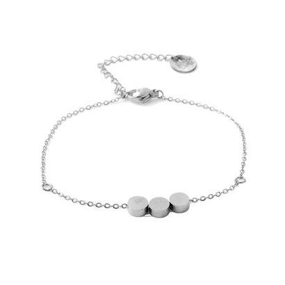 GO-DUTCH LABEL Go Dutch Label Stainless Steel Bracelet Tripple Circle Silver
