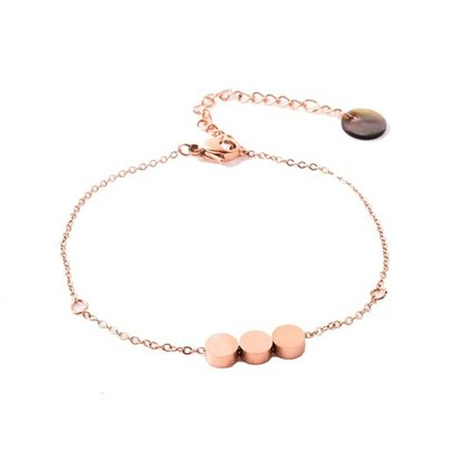 GO-DUTCH LABEL Go Dutch Label Stainless Steel Bracelet Tripple Circle Rose gold colored