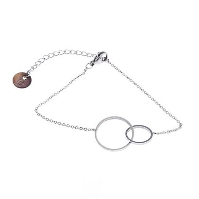 GO-DUTCH LABEL Go Dutch Label Bracelet with Charm Sisters Silver colored Stainless steel