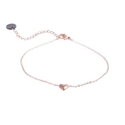 GO-DUTCH LABEL Go Dutch Label Stainless Steel Bracelet Mini Puffed Heart Rose Gold