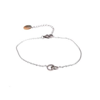 GO-DUTCH LABEL Go Dutch Label Stainless Steel Bracelet Double Circle Small Silver