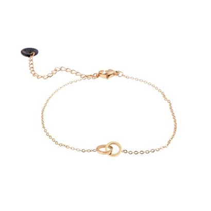 GO-DUTCH LABEL Go Dutch Label Stainless Steel Bracelet Double Circle Small Gold