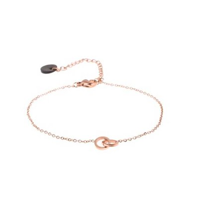 GO-DUTCH LABEL Go Dutch Label Stainless Steel Bracelet Double Circle Small Rose gold colored