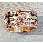 IXXXI JEWELRY RINGEN iXXXi COMBINATION RING 12mm GOLD 1061 Pink it is
