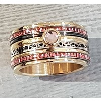 IXXXI JEWELRY RINGEN iXXXi COMBINATIE RING 12mm GOUD  1061 Pink it is