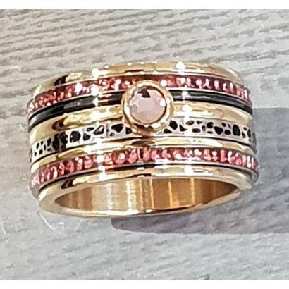 IXXXI JEWELRY RINGEN iXXXi COMBINATIE RING 12mm GOUD  1061 Pink it is