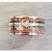 IXXXI JEWELRY RINGEN iXXXi COMBINATIE RING 12mm ROSEGOUD  1062 Pink it is