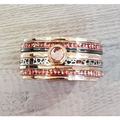 IXXXI JEWELRY RINGEN iXXXi COMBINATION RING 12mm ROSEGOUD 1062 Pink it is