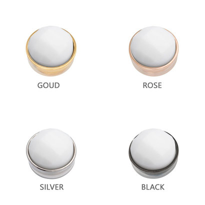 iXXXi JEWELRY iXXXi Jewelry  Top part FACET WHITE  Stainless steel
