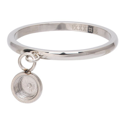 iXXXi JEWELRY iXXXi Jewelry Vulring 2mm Top part dancing basisring Silver Stainless steel