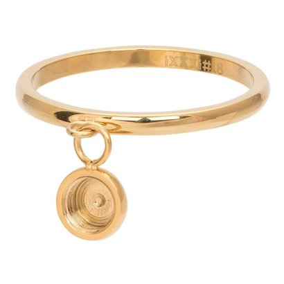 iXXXi JEWELRY iXXXi Jewelry Vulring 2mm Top part dancing basisring Gold Stainless steel