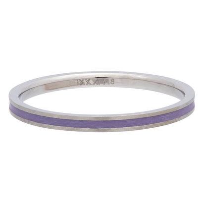 iXXXi JEWELRY iXXXi Spacer 0,2 cm Line Purple aus silberfarbenem Edelstahl