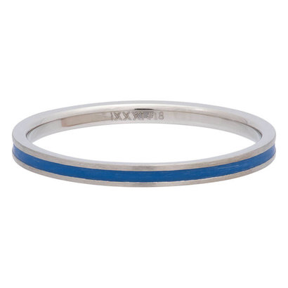 iXXXi JEWELRY iXXXi Vulring 0.2 cm Line Blue in silver stainless staal