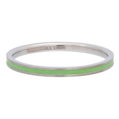 iXXXi JEWELRY iXXXi Unterlegscheibe 0,2 cm Line Green aus silberfarbenem Edelstahl