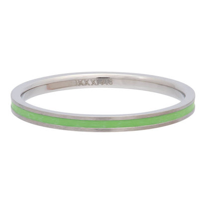 iXXXi JEWELRY iXXXi Vulring 0.2 cm Line Green in silver stainless staal
