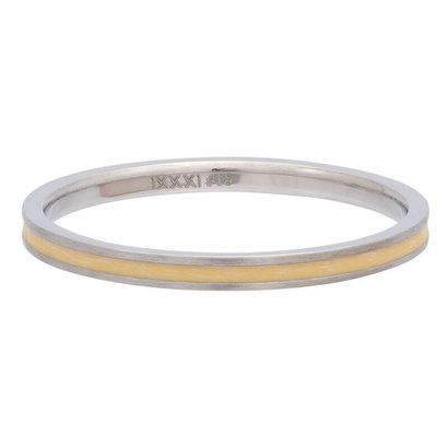 iXXXi JEWELRY iXXXi Vulring 0.2 cm Line Yellow in silver stainless staal