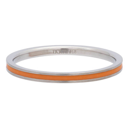 iXXXi JEWELRY iXXXi Vulring 0.2 cm Line Orange in silver stainless staal