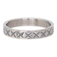 IXXXI JEWELRY RINGEN iXXXi Schmuckscheibe 0,4 cm X LINE Silber