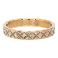IXXXI JEWELRY RINGEN iXXXi Jewelry Vulring 0.4 cm X LINE  GOLD