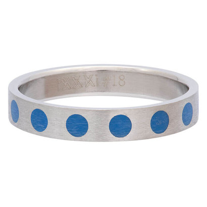 iXXXi JEWELRY iXXXi Jewelry Vulring 4mm ROUND BLUE Silver Stainless steel