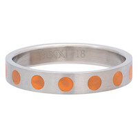 iXXXi JEWELRY iXXXi Jewelry Vulring 4MM ROUND ORANGE  Silver