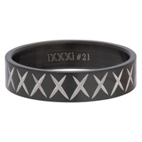 iXXXi JEWELRY MEN iXXXi HEREN VULRING CROSS LINE BLACK