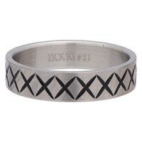 iXXXi JEWELRY MEN iXXXi HEREN VULRING CROSS LINE SILVER