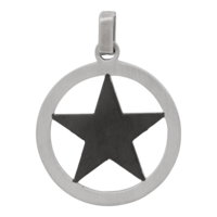 iXXXi JEWELRY MEN iXXXi MEN HANGER STAR BLACK