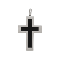 iXXXi JEWELRY MEN iXXXi JEWELRY MEN PENDANT CROSS BLACK SILVER