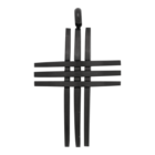 iXXXi JEWELRY MEN iXXXi JEWELRY MEN HANGER CROSS OPEN BLACK