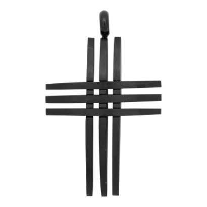 iXXXi JEWELRY MEN iXXXi JEWELRY MEN PENDANT CROSS OPEN BLACK STEEL
