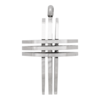 iXXXi JEWELRY MEN iXXXi JEWELRY MEN PENDANT CROSS OPEN SILVER