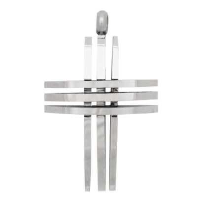 iXXXi JEWELRY MEN iXXXi JEWELRY MEN PENDANT CROSS OPEN SILVER STEEL
