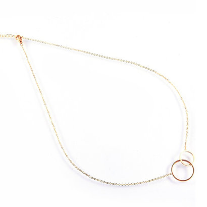 GO-DUTCH LABEL Go Dutch Label Stainless Steel Necklace Short Sisters Rose Gold