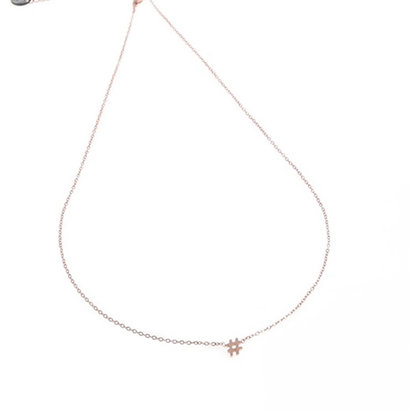 GO-DUTCH LABEL Go Dutch Label Stainless Steel Necklace SHORT Rose Gold colored