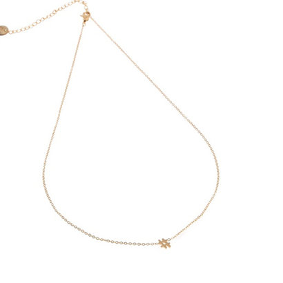 GO-DUTCH LABEL Gehen Sie holländische Label Edelstahl Halskette kurz HEKJE Gold