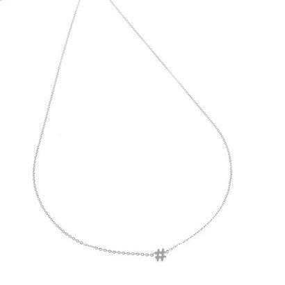 GO-DUTCH LABEL Go Dutch Label Stainless Steel Necklace Short HEKJE Silver colored
