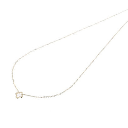 GO-DUTCH LABEL Go Dutch Label Stainless Steel Necklace Short Open Clover Gold